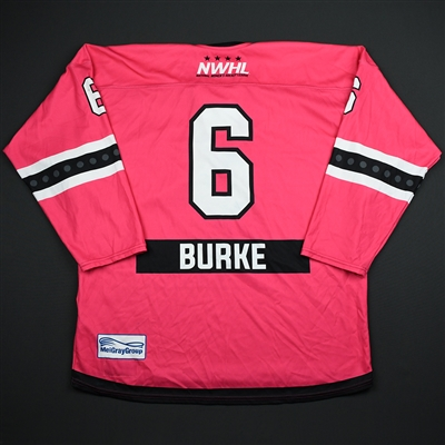 Courtney Burke - Metropolitan Riveters - Game-Worn Strides For The Cure Jersey - Jan. 27, 2018