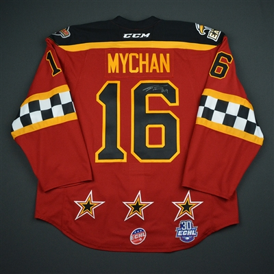 Jesse Mychan - 2018 CCM/ECHL All-Star Classic - Mountain Division - Game-Worn Autographed Semi-Final Jersey - 2nd Half Only