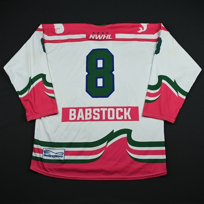 Kelly Babstock - Connecticut Whale - Game-Worn Strides for the Cure Jersey - Jan. 27, 2018