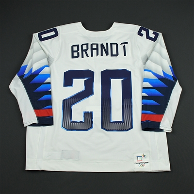 Hannah Brandt - Team USA Womens PyeongChang 2018 Olympic Winter Games - Game-Worn White Jersey