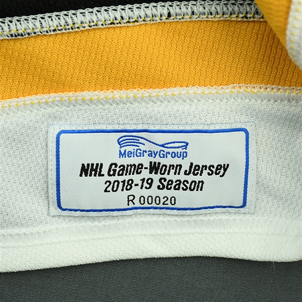 Brandon Carlo - White - 2018 O.R.G. NHL China Games - Game-Worn Jersey