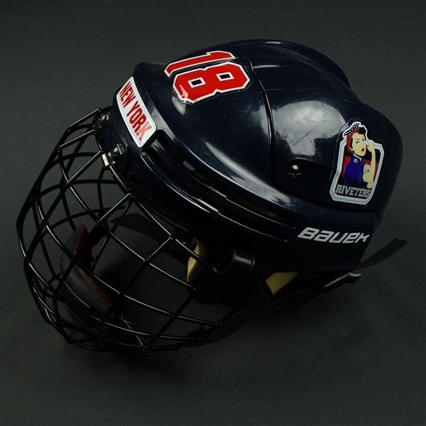 Rebecca Russo - New York Riveters - Game-Worn Helmet - 2016-17 Season and 2017 NWHL All-Star Game