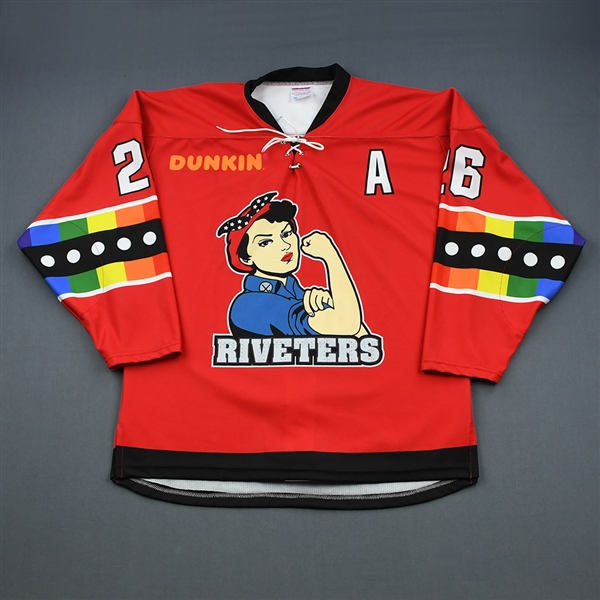 Kiira Dosdall - Metropolitan Riveters - Game-Worn You Can Play Autographed Jersey w/A - Feb. 2, 2019