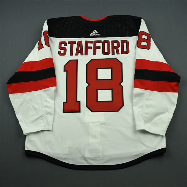 Drew Stafford - New Jersey Devils - 2018 Hockey Hall of Fame Game - Game-Issued Jersey - November 9