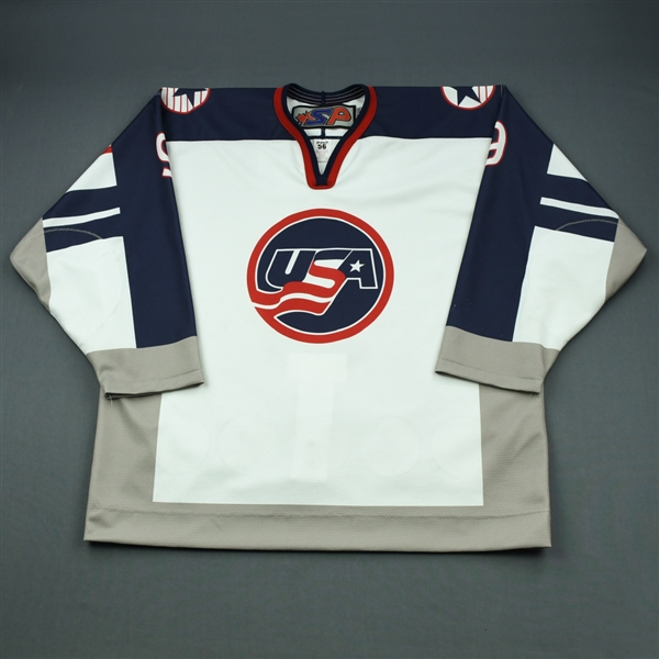 Matthew Boldy - 2019 U.S. NTDP U-18 - Military Appreciation '98 Throwback Salute To Heroes Game-Worn Autographed Jersey