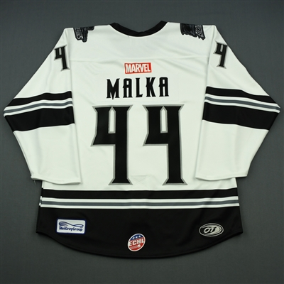 Olivier Malka - Florida Everblades - 2018-19 MARVEL Super Hero Night - Game-Issued Jersey