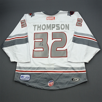 Logan Thompson - Thor - 2019-20 MARVEL Super Hero Night - Game-Worn Autographed Jersey and Socks