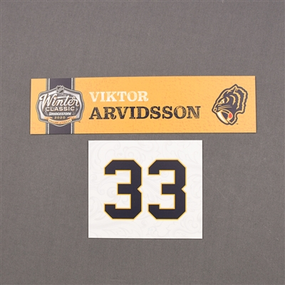 Viktor Arvidsson - 2020 NHL Winter Classic - Game-Used Name & Number Plate