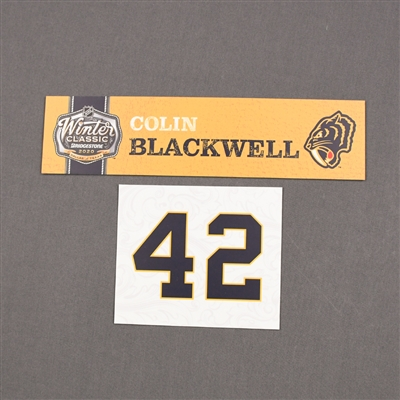 Colin Blackwell - 2020 NHL Winter Classic - Game-Used Name & Number Plate
