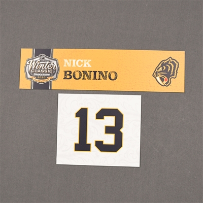 Nick Bonino - 2020 NHL Winter Classic - Game-Used Name & Number Plate
