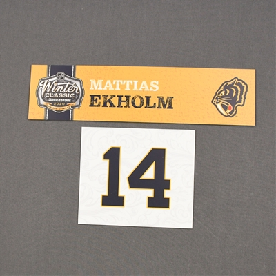 Mattias Ekholm - 2020 NHL Winter Classic - Game-Used Name & Number Plate