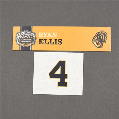 Ryan Ellis - 2020 NHL Winter Classic - Game-Used Name & Number Plate