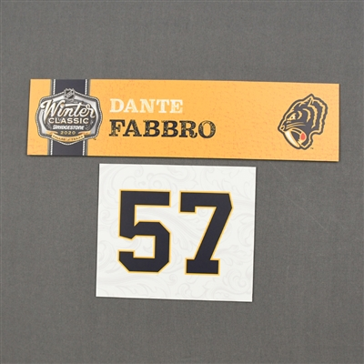 Dante Fabbro - 2020 NHL Winter Classic - Game-Used Name & Number Plate