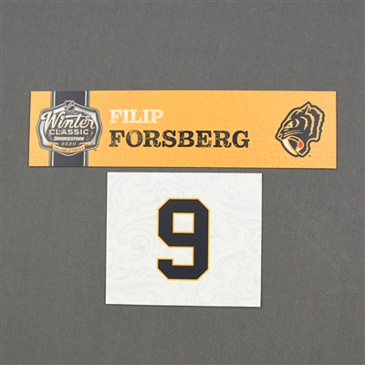 Filip Forsberg - 2020 NHL Winter Classic - Game-Used Name & Number Plate