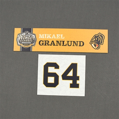 Mikael Granlund - 2020 NHL Winter Classic - Game-Used Name & Number Plate