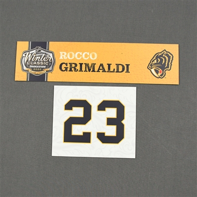 Rocco Grimaldi - 2020 NHL Winter Classic - Game-Used Name & Number Plate