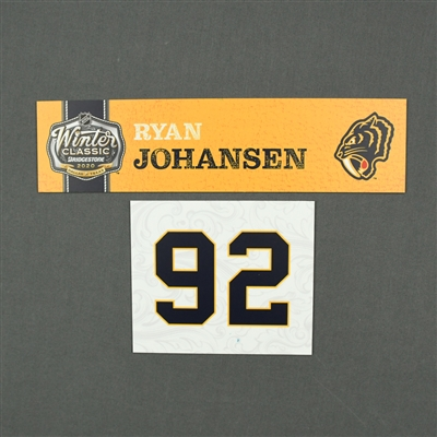 Ryan Johansen - 2020 NHL Winter Classic - Game-Used Name & Number Plate