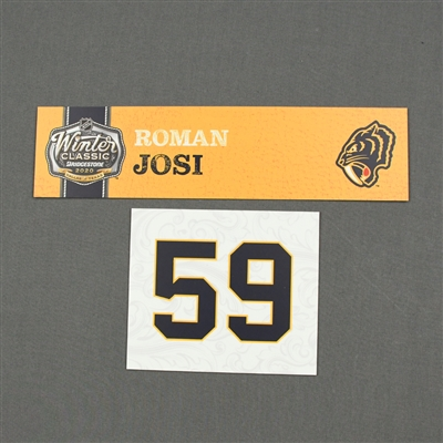 Roman Josi - 2020 NHL Winter Classic - Game-Used Name & Number Plate