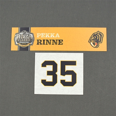 Pekka Rinne - 2020 NHL Winter Classic - Game-Used Name & Number Plate