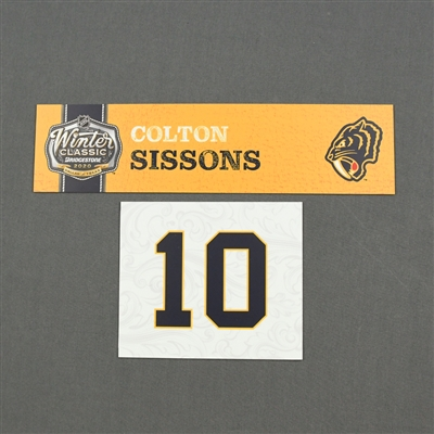 Colton Sissons - 2020 NHL Winter Classic - Game-Used Name & Number Plate