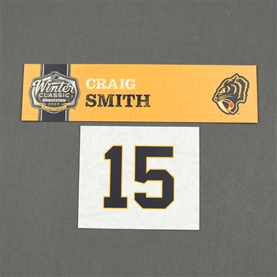 Craig Smith- 2020 NHL Winter Classic - Game-Used Name & Number Plate