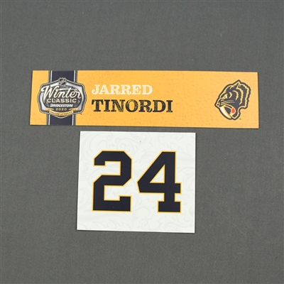 Jarred Tinordi - 2020 NHL Winter Classic - Game-Used Name & Number Plate