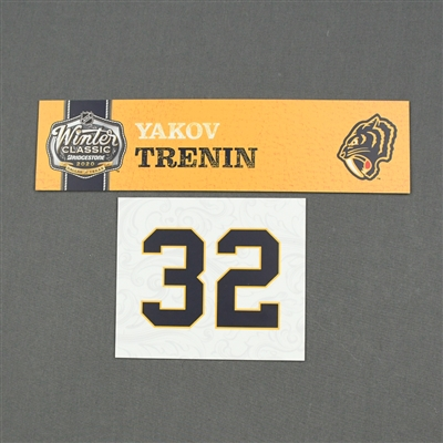 Yakov Trenin - 2020 NHL Winter Classic - Game-Used Name & Number Plate