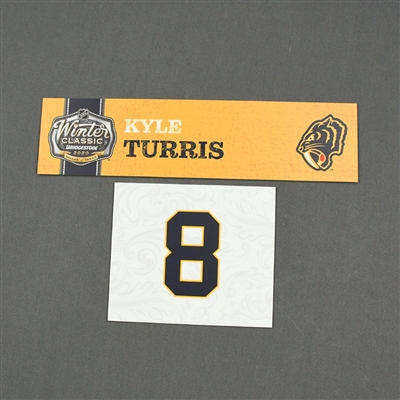 Kyle Turris - 2020 NHL Winter Classic - Game-Used Name & Number Plate