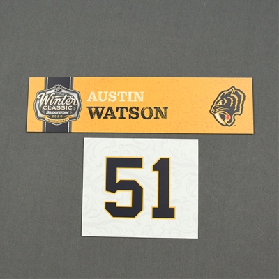 Austin Watson - 2020 NHL Winter Classic - Game-Used Name & Number Plate