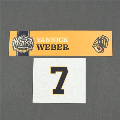 Yannick Weber - 2020 NHL Winter Classic - Game-Used Name & Number Plate