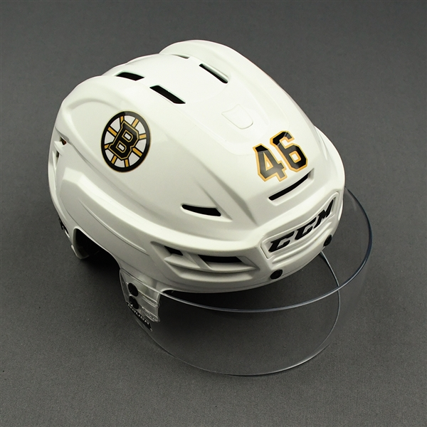 David Krejci - Game-Worn Helmet - 2019-20 Regular Season and 2020 Stanley Cup Playoffs